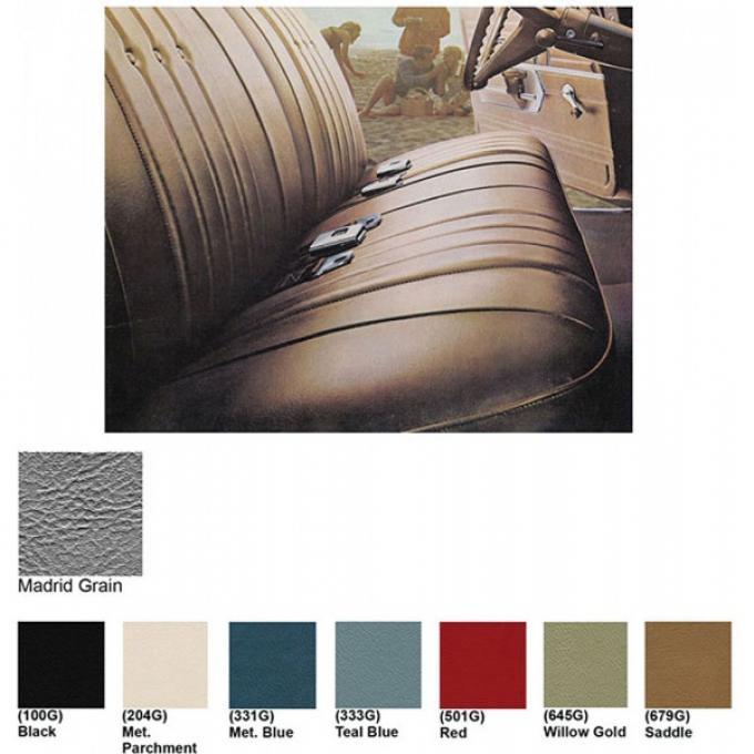 Legendary Auto Industries Chevelle & Malibu Covers, Front Seats, Split Bench, Show Correct, 1968