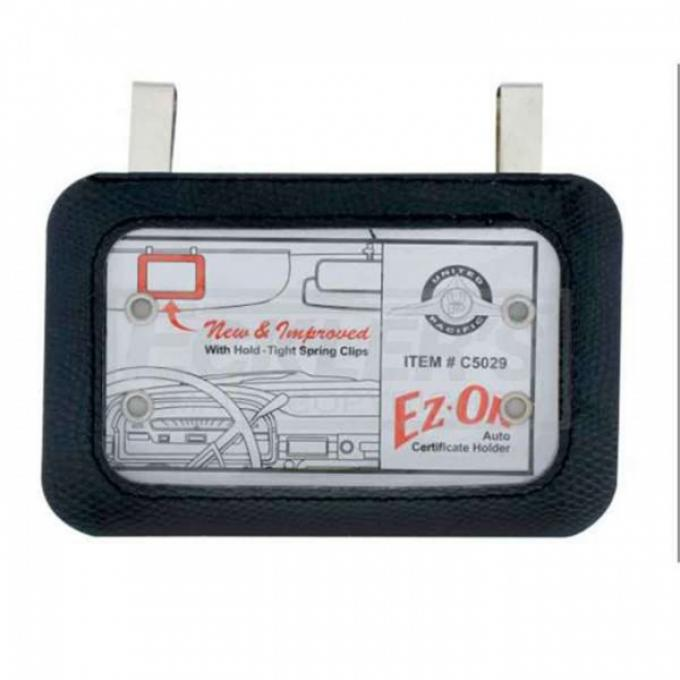 Chevy Registration Document Holder, Clip Style, 1958-1985