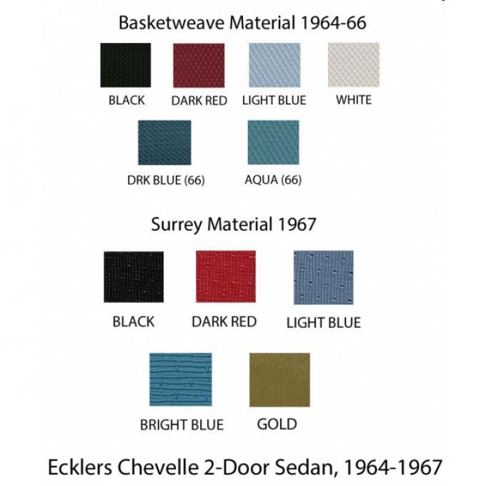 Chevelle  Headliner, Standard Kit, 2-Door Sedan, 1964-1967