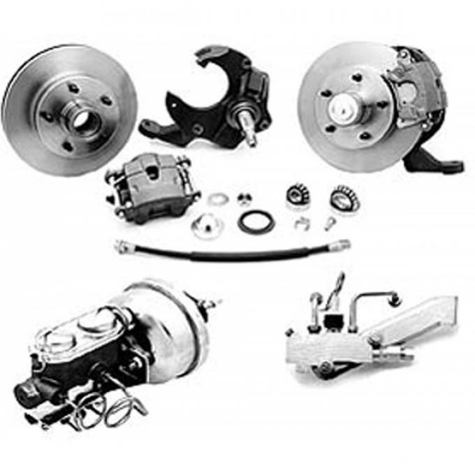 El Camino Front Disc Brake Conversion Kit, With Drop Spindle, 1964-1972