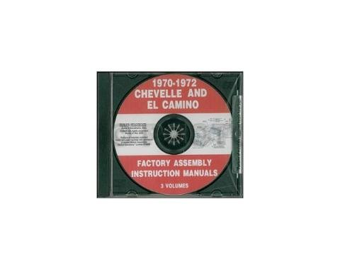 Chevelle Factory Assembly Manual, PDF CD-ROM, 1970-1972