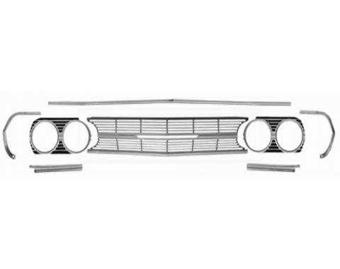 Chevelle And Malibu Grille, Molding, Headlight Extension, Kit, Standard, 1965