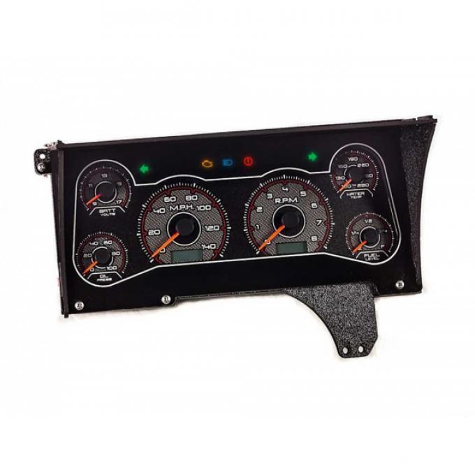 Malibu -CFR Redline Gauge Package, Black And Red Dial 1982-1983