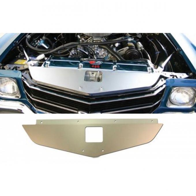 Chevelle Core Support Filler Panel, Anodized Aluminum, 1970-1972