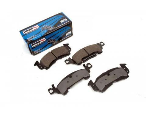 Chevelle Disc Brake Pads, Front, HPS Performance, Hawk, 1968-1983