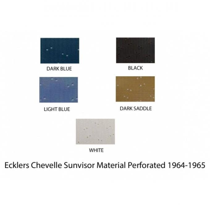 Chevelle Perforated Sunvisors, Coupe or Wagon, 1964-1965 & 2 & 4-Door Sedan 1964-1967