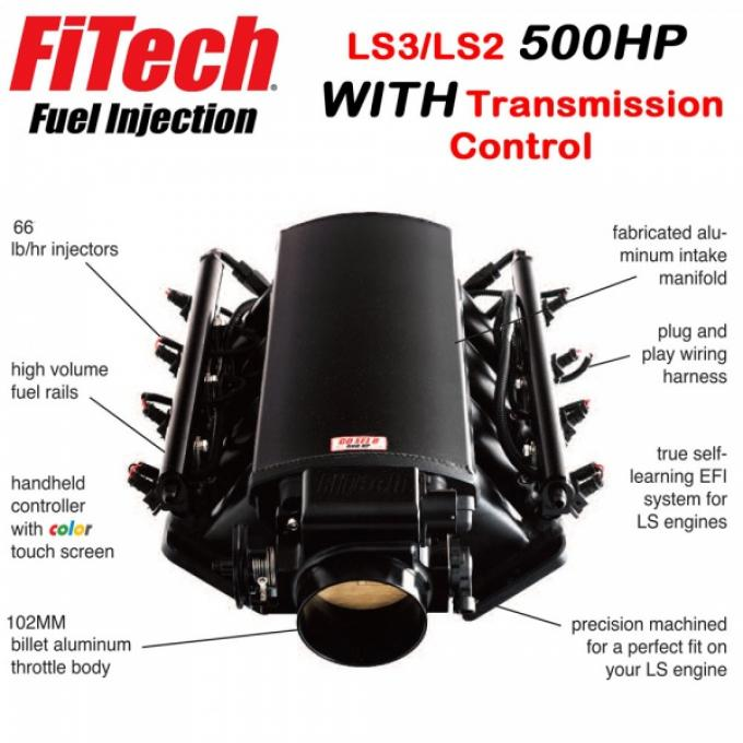 Ultimate LS Fuel Injection Kit for LS3/L92 - 500HP With Trans. Control   FiTech - 70012