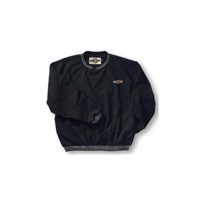 Chevy Jacket, Microfiber Windbreaker Striped, Black