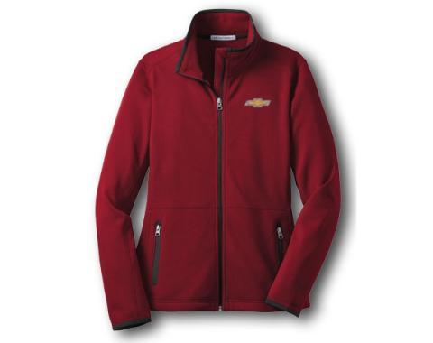Chevy Jacket, Ladies, Zippered Pique Fleece, Red
