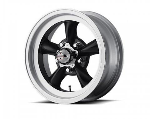American Racing Torq-Thrust D Black Wheel W/ Machine Lip, 15X7