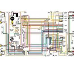 Chevelle & Malibu Color Laminated Wiring Diagram | 1964-1975