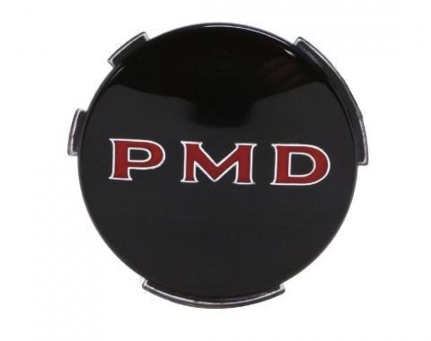 Trim Parts Wheel Cover Emblem, 2 7/16 Diameter, Black, Each 8200