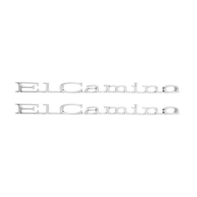 Trim Parts 67 El Camino Rear Quarter Emblem, El Camino, Pair 4837