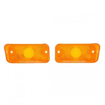 Trim Parts 68 Chevelle Parking Light Lens, Amber, Pair A4505