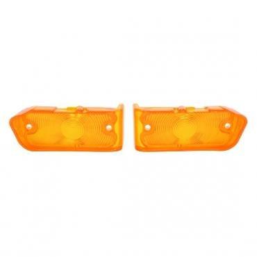 Trim Parts 67 Parking Light Lens, Amber, Pair A4250