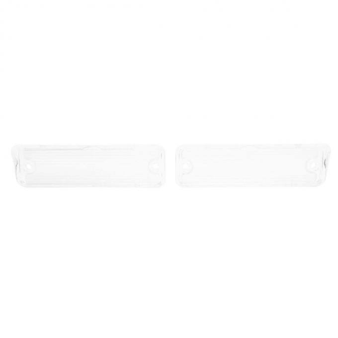 Trim Parts 65 and 67 Chevelle, Wagon, and El Camino Clear Back Up Light Lens, Pair A4230
