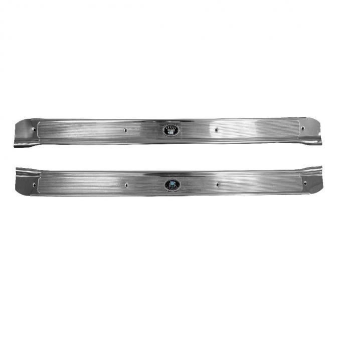 Trim Parts 68-72 GM A-Body Sill Plates for Applications including Chevelle, GTO and More, Pair 4152