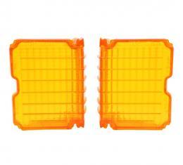 Trim Parts 72 Chevelle Amber Parking Light Lens, Pair A4300