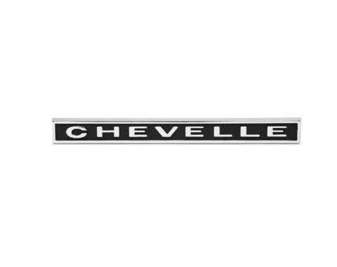 Trim Parts 67 Chevelle Rear Panel Emblem, Chevelle, Each 4400