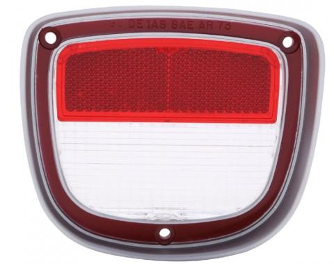 Trim Parts 73-77 Chevelle Wagon Left Hand Back Up Light Lens, Each A4875A