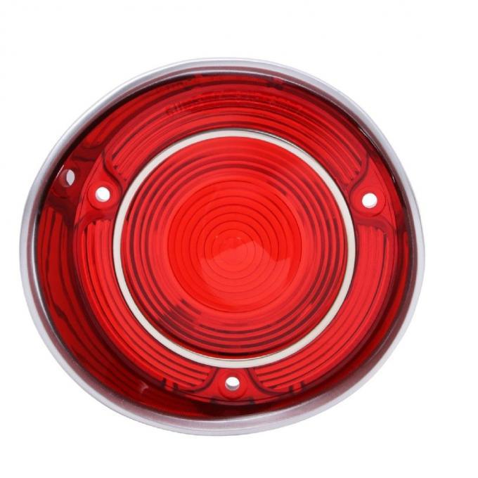"Trim Parts 71 Malibu & ""SS"" Driver Side Tail Light Lens with Trim, Each A4402"