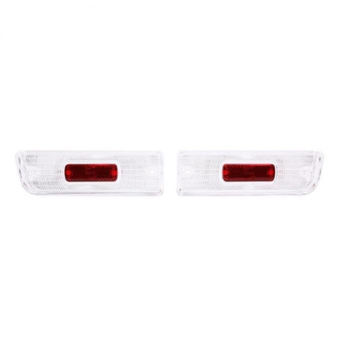 Trim Parts 64 Chevelle Back Up Light Lens with Red Reflector, Pair A4225