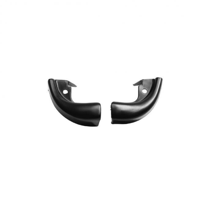 Trim Parts 64-65 Chevelle and Pontiac GTO 2-Door Black Windlace End Caps, Pair 4175