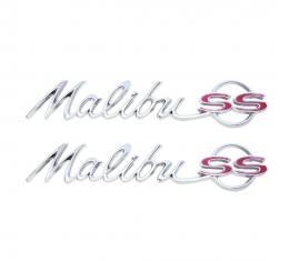 Trim Parts 64 Chevelle Malibu SS Rear Quarter Emblem, Pair 4010