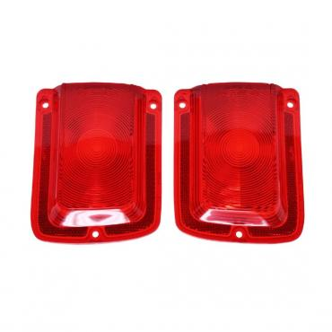 Trim Parts 65 Chevelle Red Tail Light Lens without Chrome Trim, Pair A4206