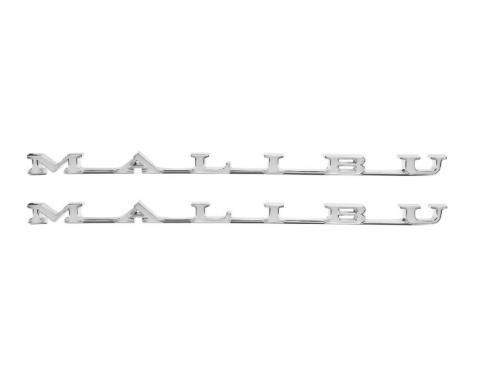 Trim Parts 69 Chevelle Rear Quarter Emblem, Malibu, Pair 4610
