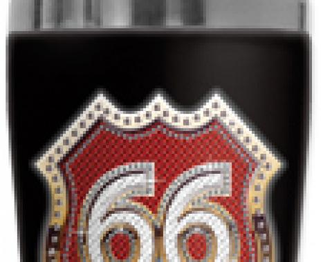 Mugzie Cocktail Shaker, Hot Or Cold, Checkered Flag Route 66 Bling (red)