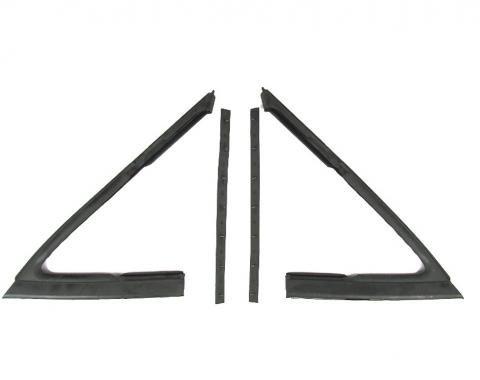 Precision Vent Glass Weatherstrip Seal Kit, Left and Right 4 Piece Kit, Fits 2 Door Sedans VWK 1210 68