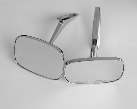 Chevelle Chrome Clear Shot Outside Door Mirrors, 1968-1972