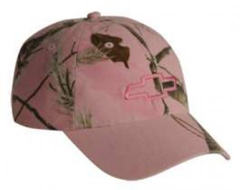 Chevy Cap, Ladies Camo Realtree Bowtie, Pink