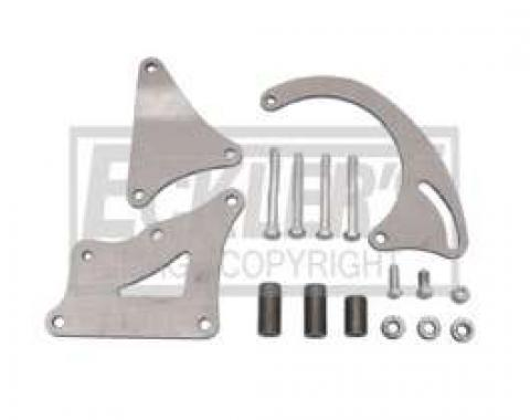 Chevy Alternator Bracket Kit, Small Block, Short Water Pump Extra Clearance, 1955-1957