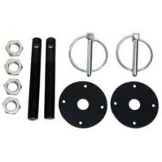 Aluminum Hood Pin Kit, Black
