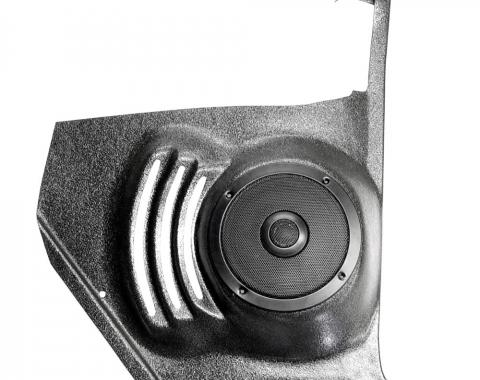 Custom Autosound El Camino Kick Panels with 80 Watt Speakers, For Cars Without Air Conditioning, 1964-1966