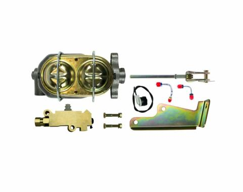 Right Stuff 1 Inch Bore Master Cylinder And Disc Front/Drum Rear Combination Valve Combo Kit G0571