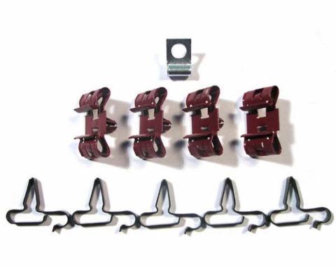 Right Stuff 67 Brake Clip Set; 10 Pcs. CCS014