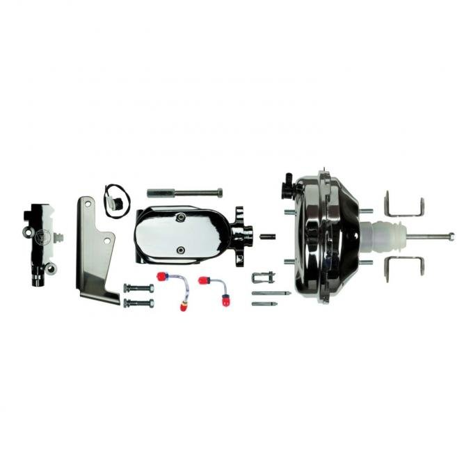 """Right Stuff Upper Assembly with Chrome Booster, 1"""" Bore, Valve, Lines and Brackets J91215672"""