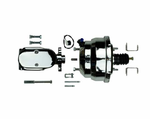 """Right Stuff Upper Assembly with Chrome Booster, 1"""" Bore and Brackets J813156"""