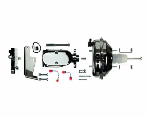 """Right Stuff Upper Assembly with Chrome Booster, 1"""" Bore, Valve, Lines and Brackets J94215672"""
