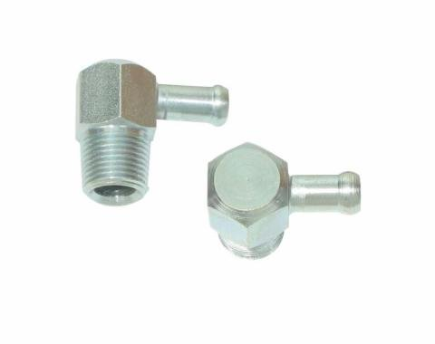 Right Stuff 67 - 69 3/8 Thread, 1 3/8 Hose Connector (Z-28) - Intake Manifold Fitting IMF67ZZ