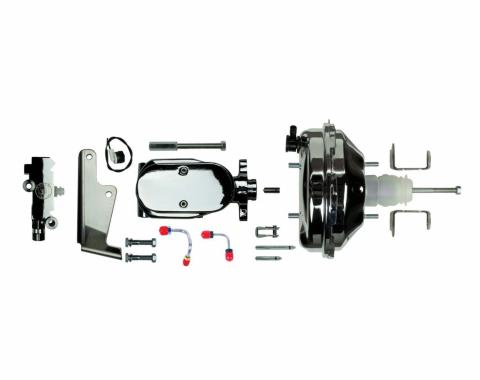 "Right Stuff Upper Assembly with Chrome Booster, 1"" Bore, Valve, Lines and Brackets J91215672"