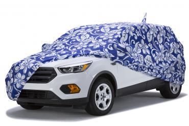 Covercraft Custom Fit Car Covers, Grafix Series Floral Blue C16032KB