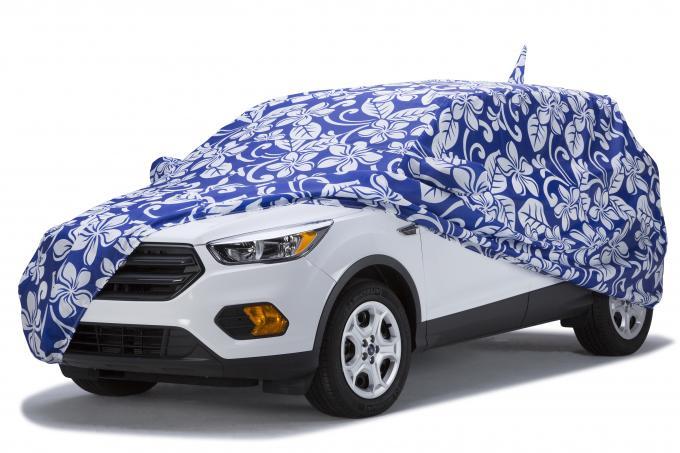 Covercraft Custom Fit Car Covers, Grafix Series Floral Blue C1307KB