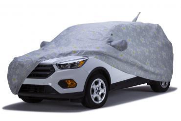 Covercraft Custom Fit Car Covers, Block-It Evolution Gray Daisy Print C1307DK