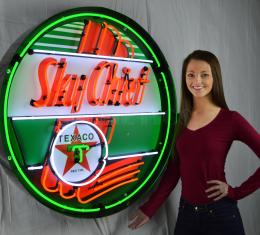 Neonetics Big Neon Signs in Steel Cans, Texaco Sky Chief 36 Inch Neon Sign in Metal Can