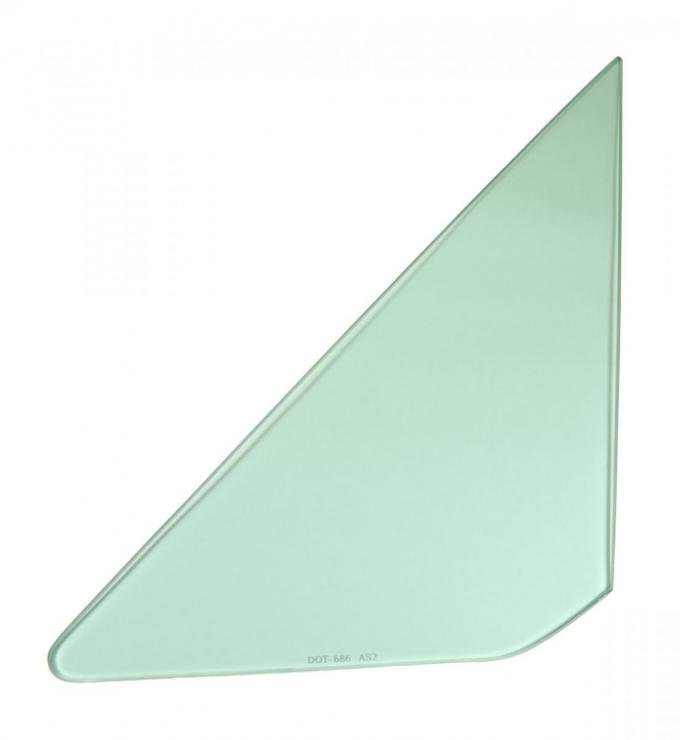 AMD Vent Glass, Green Tint, LH, 64-65 GM A-Body; 66-67 Chevelle 2/4DR Sedan (Post) 560-3464-TL