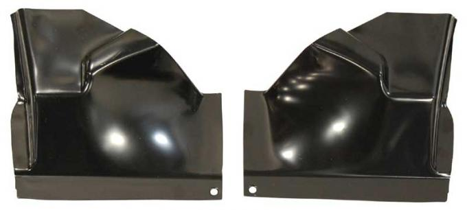 AMD Package Tray X-Brace Floor Brackets, Pair, 66-67 Chevelle GTO Skylark Cutlass 639-3466-P